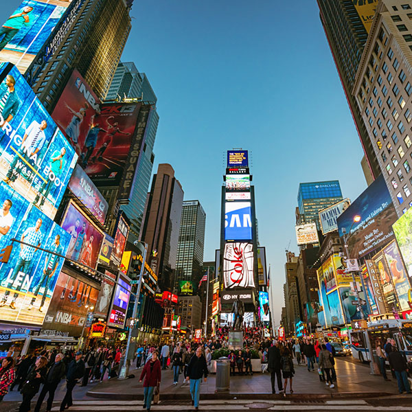 brands in Times Square