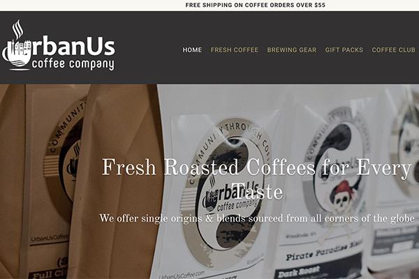 Urbanus Coffee site