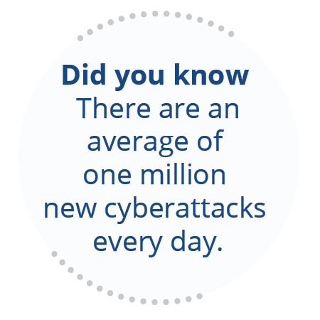there are one million new cyberattacks every day.